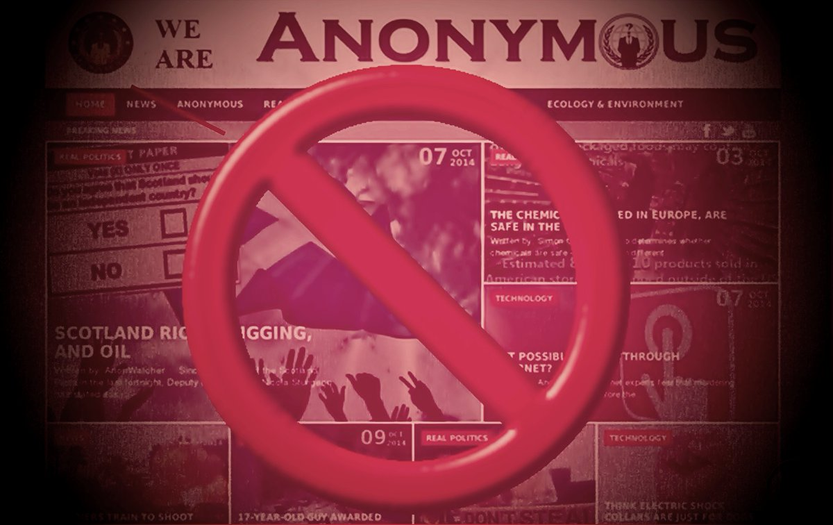 Anonymous distances from The Anonymous Party