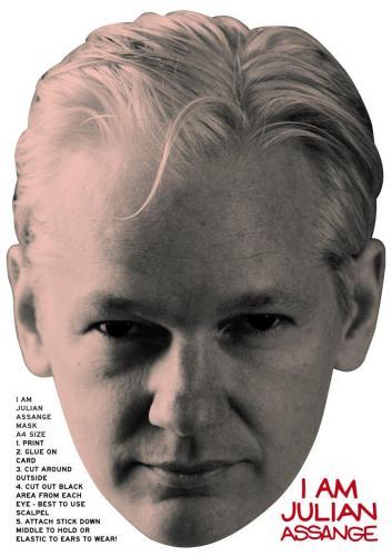 Julian Assange Mask (Type 1)