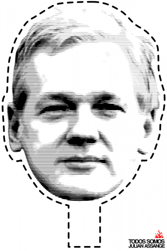 Julian Assange Mask (Type 2)